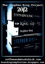 Stephen King Button Blue